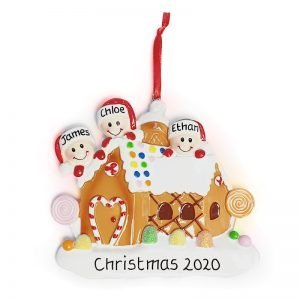Personalised Gingerbread House Christmas Tree Decoration