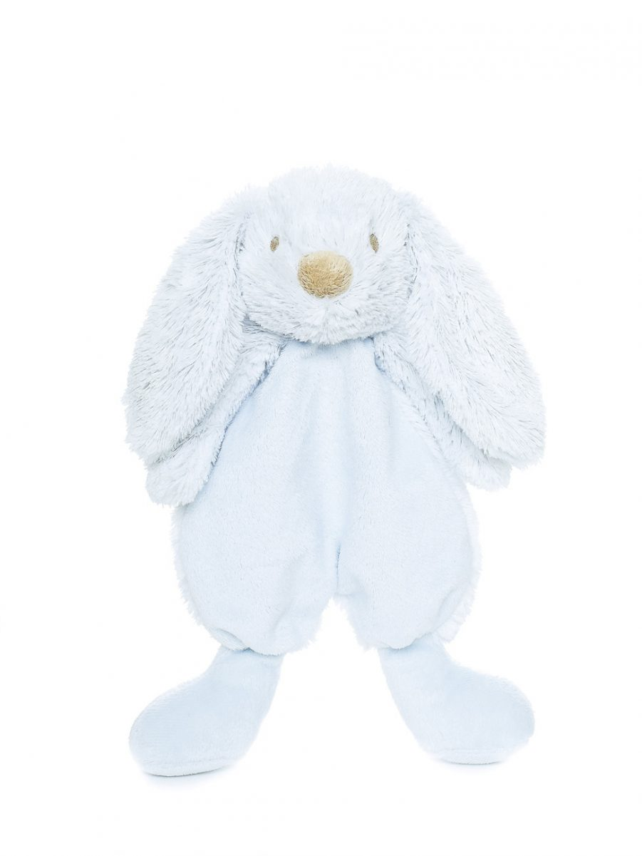 blue personalised bunny comforter