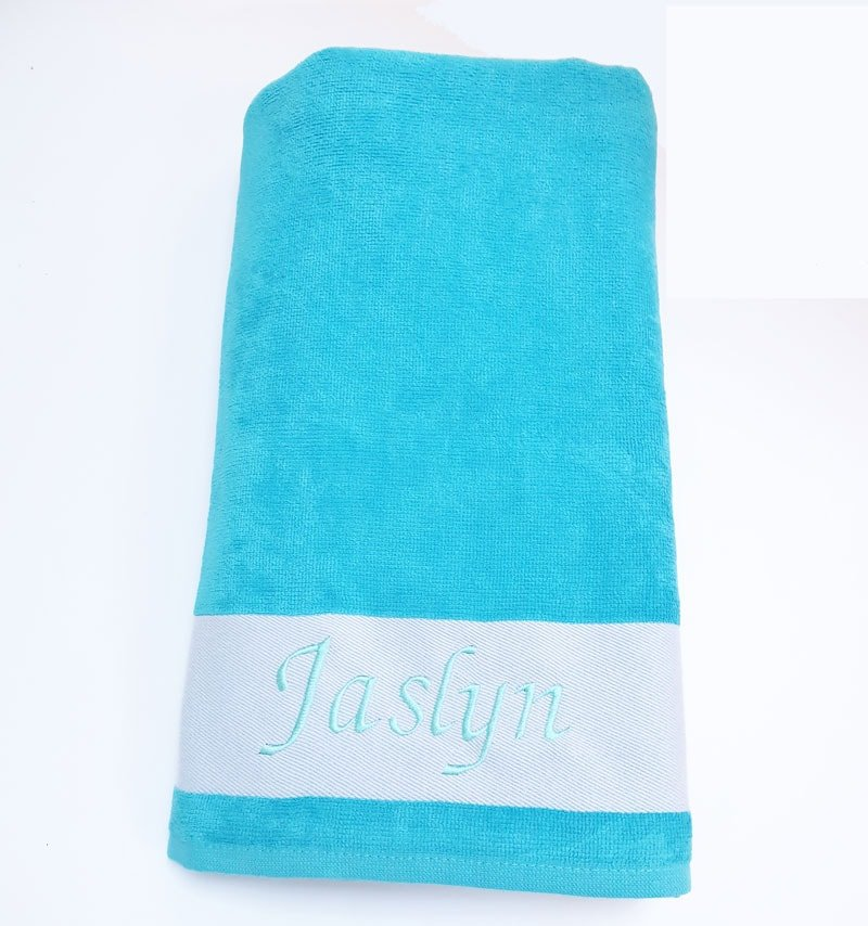 Turquoise Personalised Towel